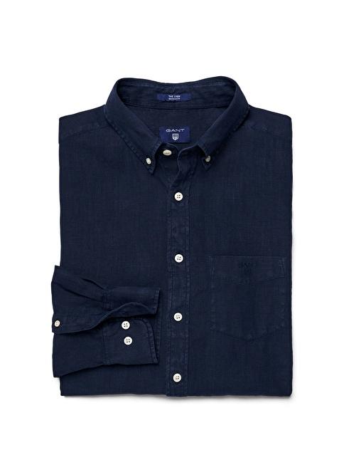 Gant Düz Regular Gömlek Lacivert
